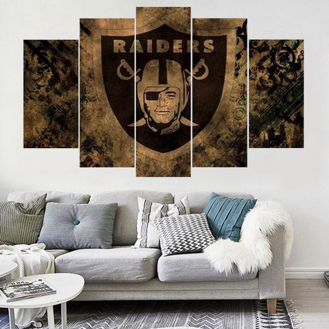 Oakland Raiders Logo Canvas