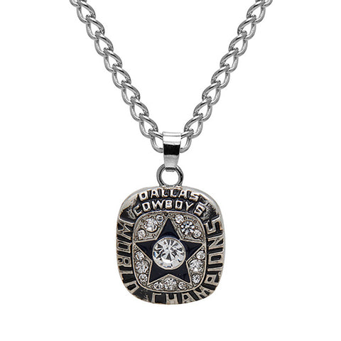 Cowboys Unisex Super Bowl Necklace (1971/1977/1992/1993/1995)