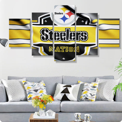 Pittsburgh Steelers Flag Canvas
