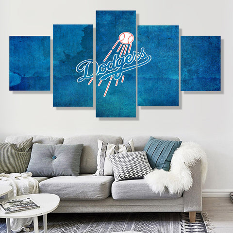 Los Angeles Dodgers Blue Canvas