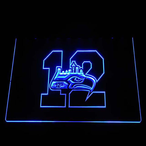 Seattle Seahawks 12th Man 3D Neon Sign