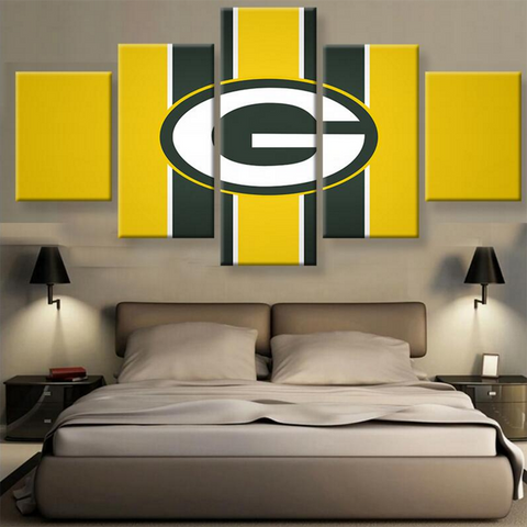 Green Bay Packers Yellow Canvas