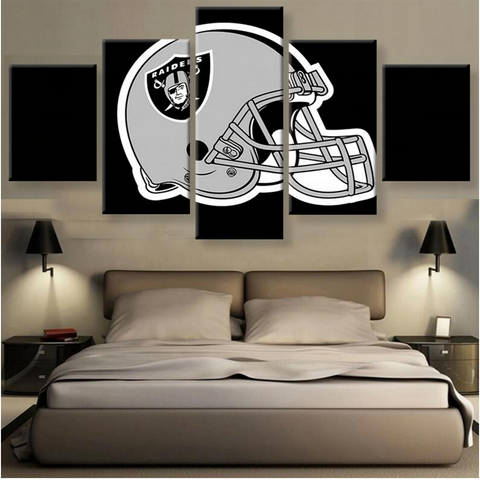 Oakland Raiders Helmet Canvas