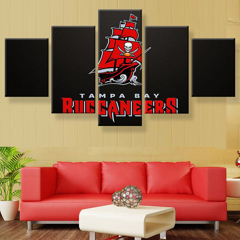 Tampa Bay Buccaneers Pirate Ship Canvas Framed