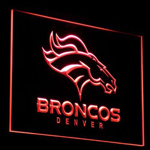 (50% OFF) LIMITED EDITION 3D Denver Broncos Neon Sign - FREE SHIPPING
