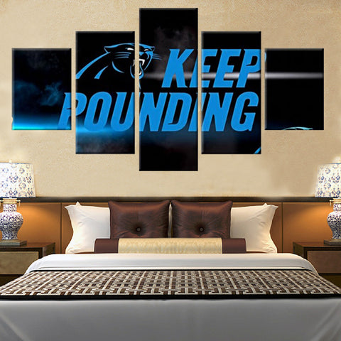 (50% OFF) HD Limited Edition Carolina Panthers KEEP POUNDING Canvas - FREE SHIPPING