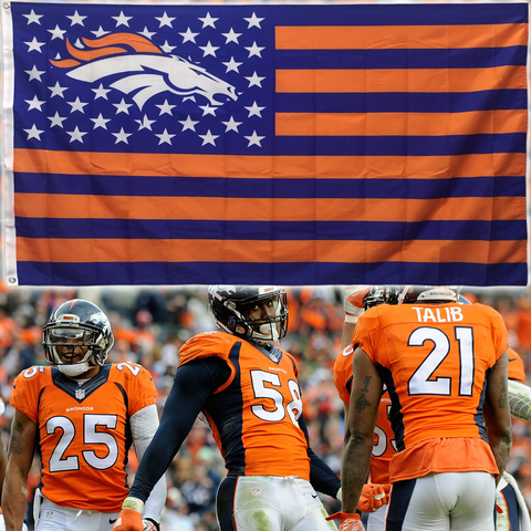 (50% OFF) Denver Broncos Flag - FREE SHIPPING