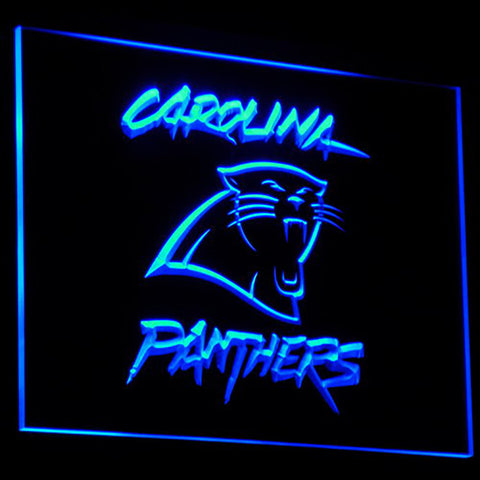 (50% OFF) LIMITED EDITION 3D Carolina Panthers Logo Neon Sign - FREE SHIPPING