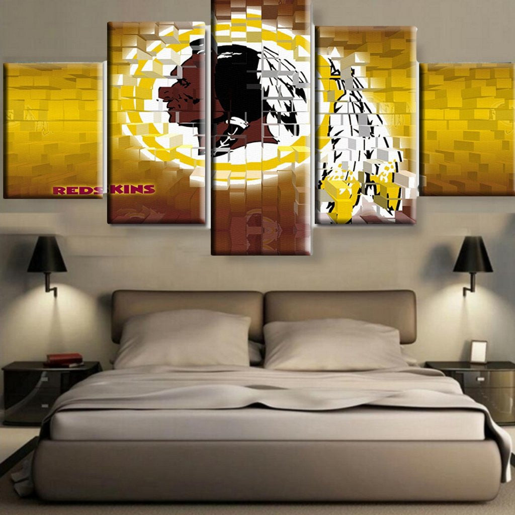 Washington Redskins Yellow 3D Canvas
