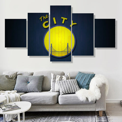 Golden State Warriors City Canvas
