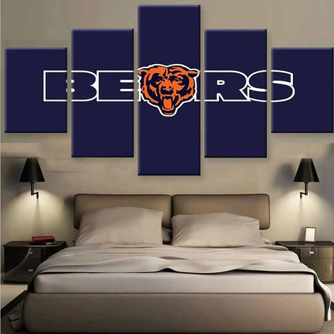 (50% OFF) HD Limited Edition Chicago Bears Blue Face Canvas   FREE SHIPPING Part 58