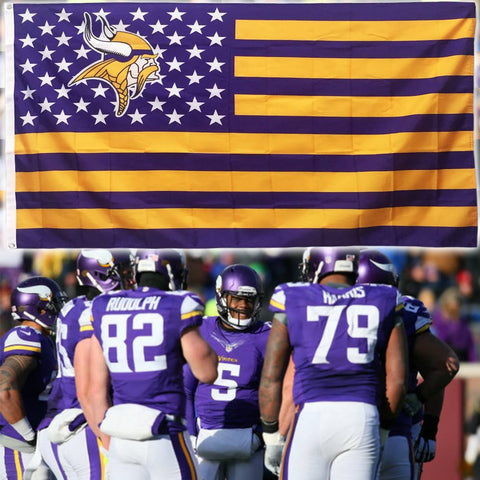 (50% OFF) Minnesota Vikings Flag - FREE SHIPPING