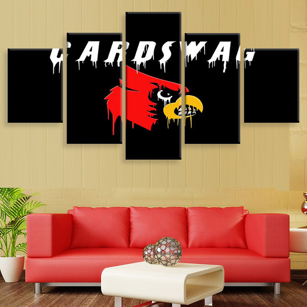 Louisville Cardinals Swag Canvas