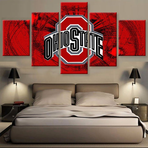 Ohio State Buckeyes Logo Canvas
