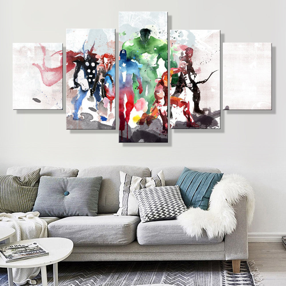 Avengers Watercolor Canvas