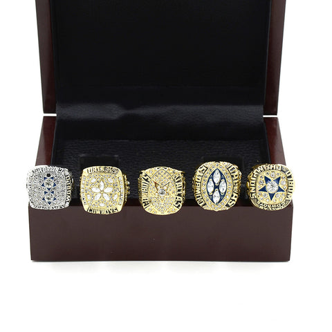 Dallas Cowboys Championship Ring With Wooden Box (1971/1977/1992/1993/1995)