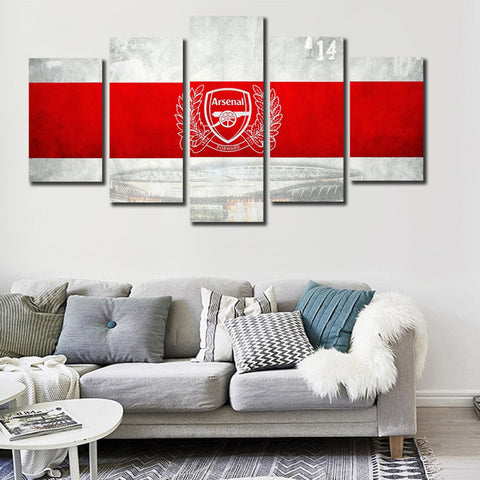 Arsenal White Canvas