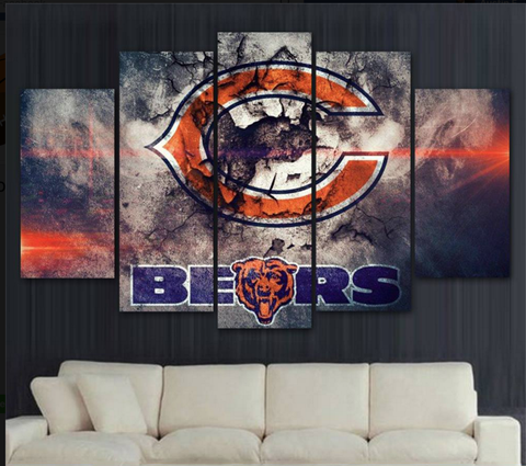 Chicago Bears Logo Canvas