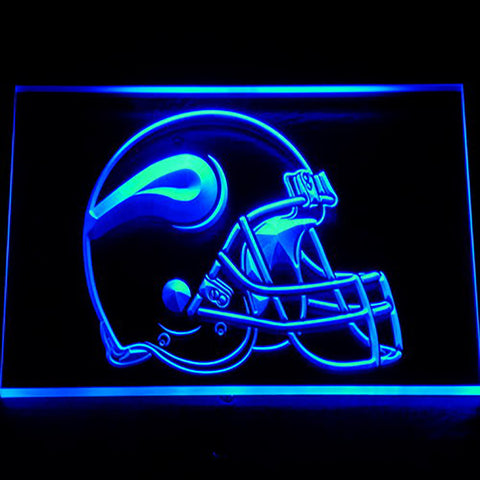 Minnesota Vikings Helmet 3D Neon Sign