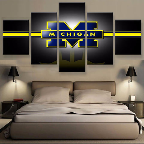 Michigan Wolverines Black Canvas