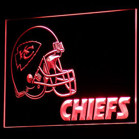 Kansas City Chiefs Helmet 3D Neon Sign