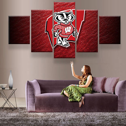 Wisconsin Badgers Canvas