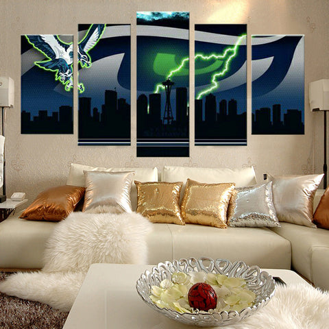 Seattle Seahawks Lightning Canvas