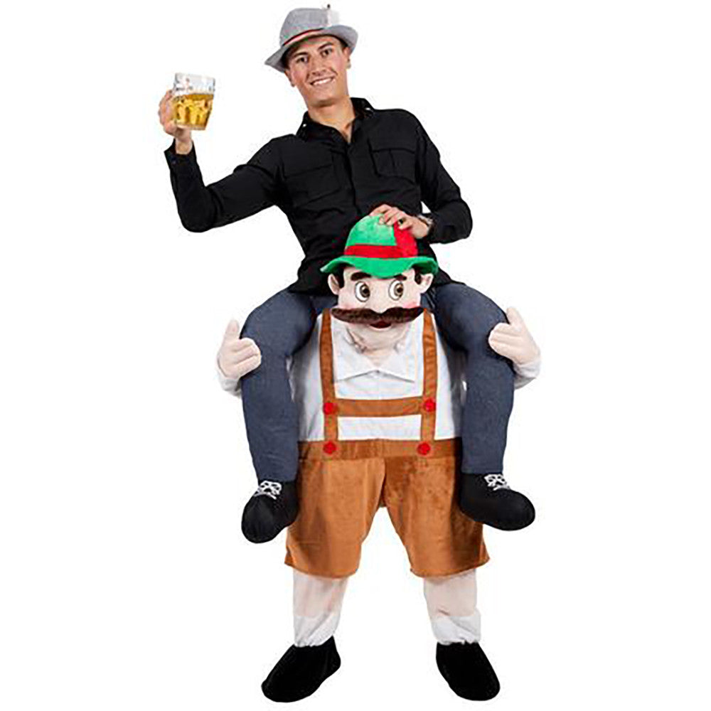 Bavarian Oktoberfest Carry Me Ride On Stag Mascot Costume