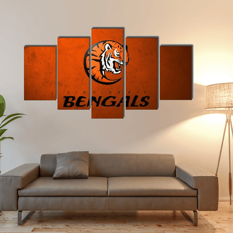 Cincinnati Bengals Logo Canvas