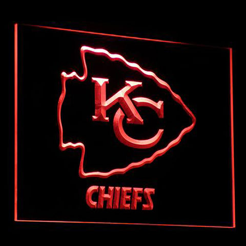 Kansas City Chiefs Logo 3D Neon Sign