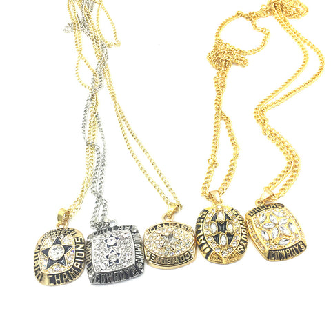 Cowboys Unisex Super Bowl 5 Necklace (1971/1977/1992/1993/1995) Set