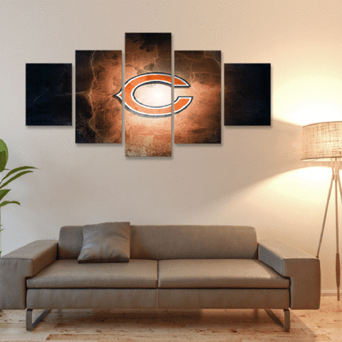 Chicago Bears Glow Canvas
