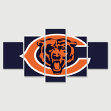 Chicago Bears Blue Letter Canvas