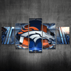 Denver Broncos 3D Framed Canvas
