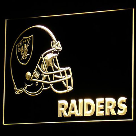 Oakland Raiders Helmet 3D Neon Sign