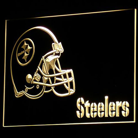 Pittsburgh Steelers Helmet 3D Neon Sign