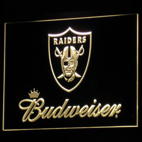 Oakland Raiders Budweiser Logo 3D Neon Sign
