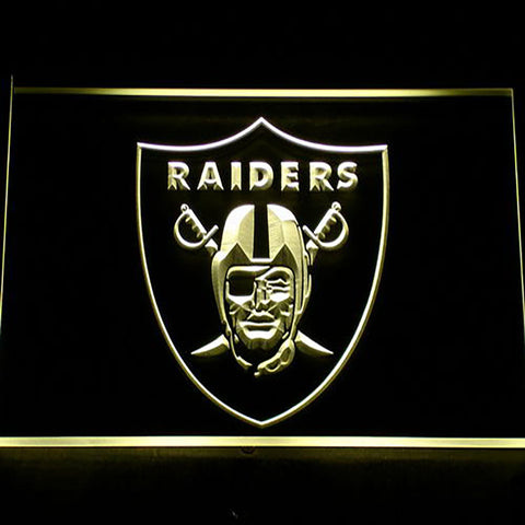 Oakland Raiders Logo 3D Neon Sign