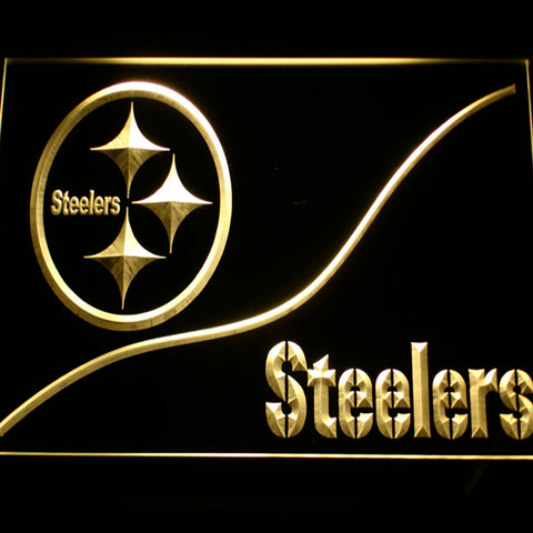 Pittsburgh Steelers Logo 3d Neon Sign Gear Gump