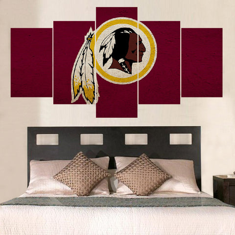Washington Redskins Native Canvas Framed