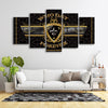 NEW ORLEANS SAINTS WHO DAT CANVAS