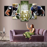 Notre Dame Fighting Irish Football Canvas
