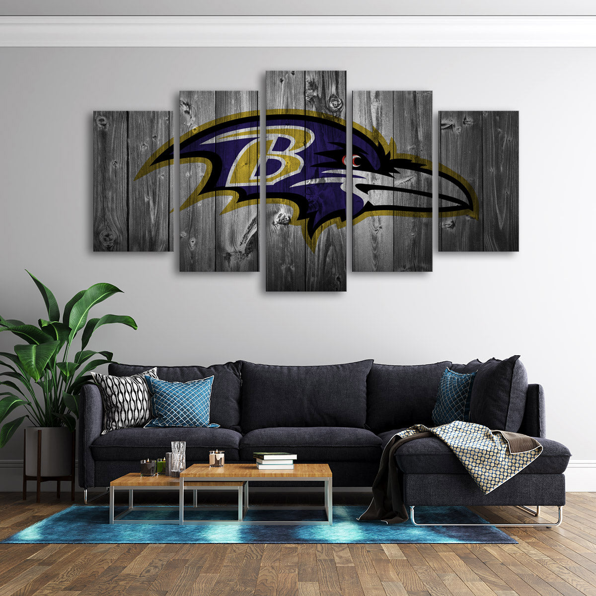 Baltimore Ravens Wooden Canvas