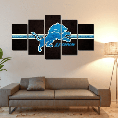 Detroit Lions Band Canvas