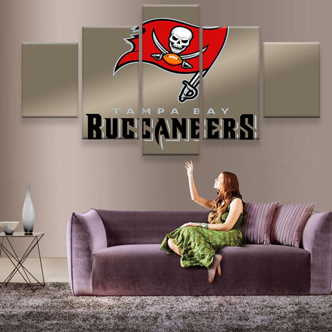 Tampa Bay Buccaneers Flag Canvas