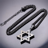 Gold Stainless Steel Star of David Necklace