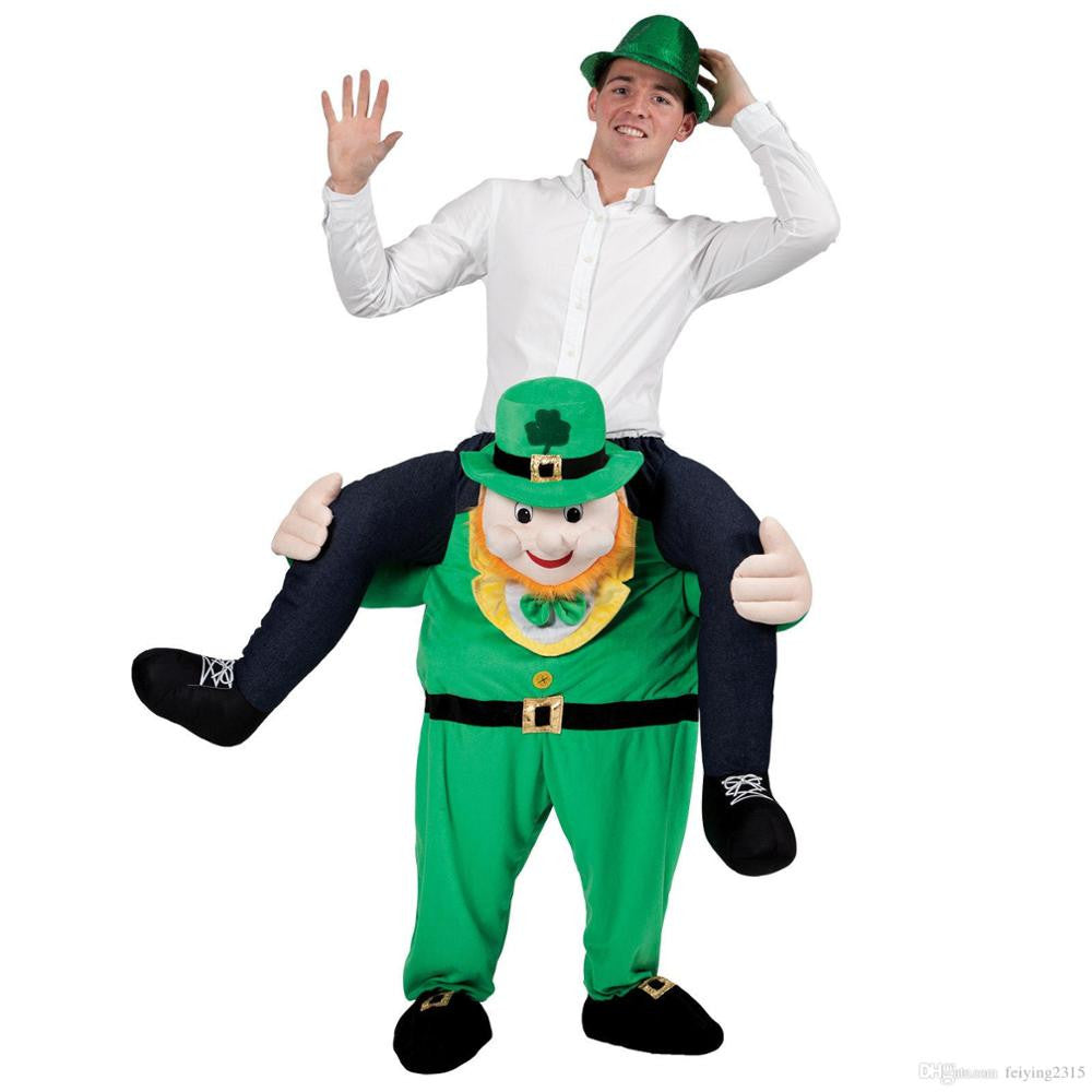 Irish Carry Me Ride On Stag Mascot Costume