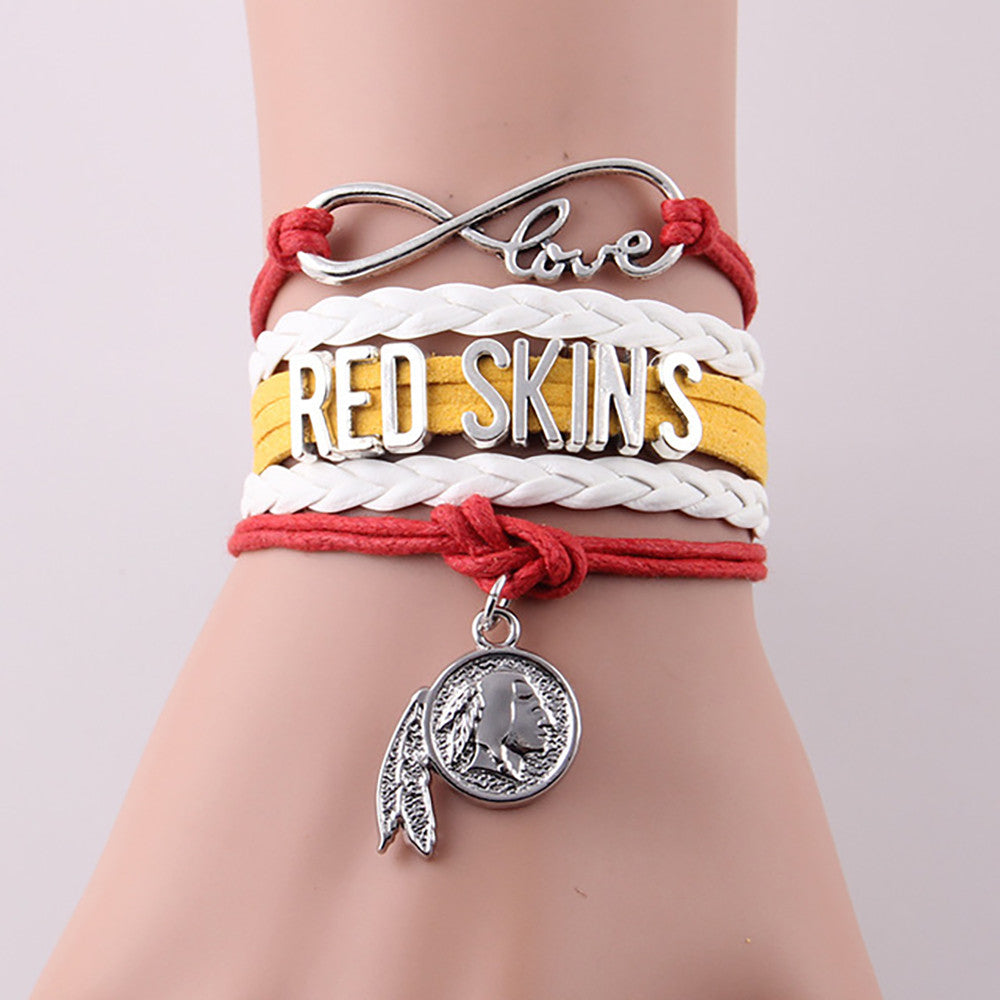Washington Redskins Infinity Love Unisex Charm Bracelet