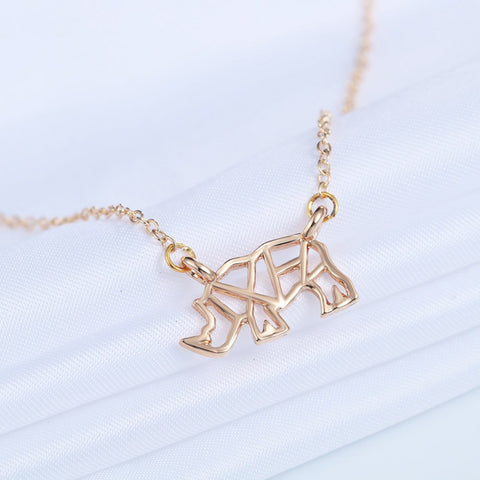 Rhino Charm Necklace