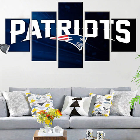 New England Patriots Blue Canvas